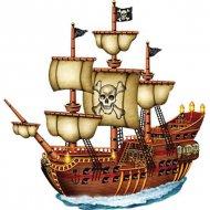 Navire pirate carton