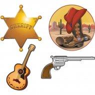 Set de 4 décors western