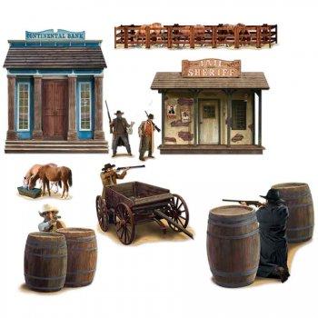 Décor mural Western Duel de cowboys