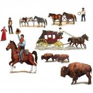 Décor mural Western Chevaux et bisons
