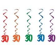 5 Guirlandes Spirales 30 ans
