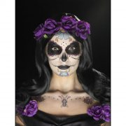 Kit Tatouages et Maquillage Calavera Violet/Noir