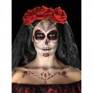 Kit Tatouage Jour des Morts Rouge et Noir