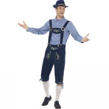 Déguisement de Bavarois Homme Bleu