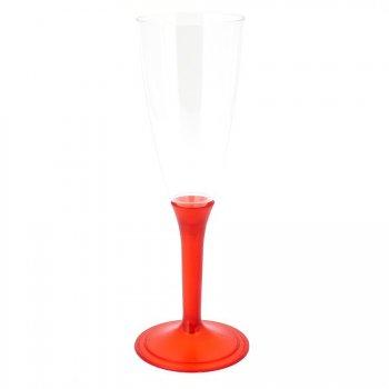 6 Flûtes Champagne Rouge