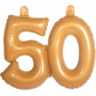 Ballon Gonflable Chiffre 50 Or