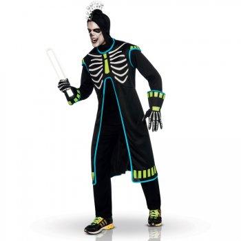 Déguisement Squelette TechnoBoy Lumineux