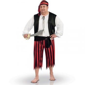 Déguisement Pirate Homme - Grande Taille (46/52)