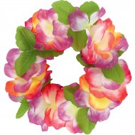 Collier de Fleurs Hawaï Fuchsia et Blanc