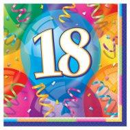 16 Serviettes 18 ans