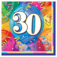 16 Serviettes 30 ans