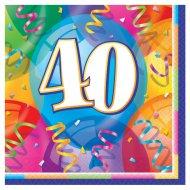 16 Serviettes 40 ans