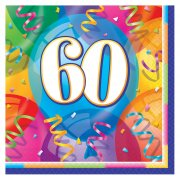 16 Serviettes 60 ans