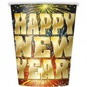 8 Gobelets Happy New Year Feu d'Artifice