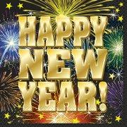 16 Serviettes Happy New Year Feu d'Artifice