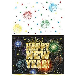 Nappe Happy New Year Feu d Artifice