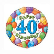Ballon 40 ans Happy Birthday - Mylar